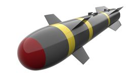 Missile isolated on a back ground Stock Images
