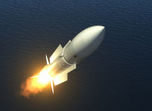 Missile Launch On The High Seas Stock Photography