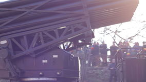 Missile Launch Vehicle. Military rockets launcher machine mounted on truck stock video footage