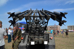 Missile launcher at the International Gathering of Military Vehicles in Borne Sulinowo, Poland Stock Image