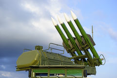 Missile launcher with radar Stock Photography