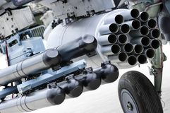 Helicopter missile launcher Royalty Free Stock Photo