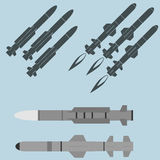 Missile military rocket weapons Royalty Free Stock Image