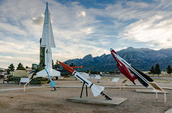 Missile Park - White Sands, New Mexico royalty free stock photo