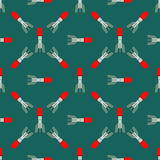 Missile rocket seamless pattern vector illustration cartoon bomb flat style background threat Royalty Free Stock Photo