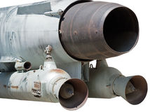 Missile. Russian missiles in a museum royalty free stock photo