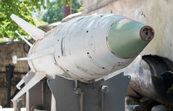 Missile. Russian missiles in a museum stock photo