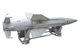 Missile. Russian missiles on a white background royalty free stock photo
