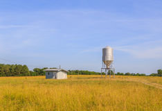 Missile Shaped Silo and Keep Shack Stock Photos