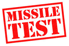 MISSILE TEST Stock Images