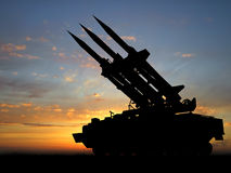 missiler royaltyfria bilder