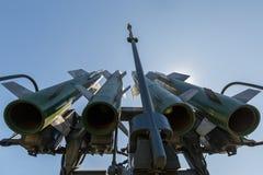Missiler av det ryska självgående systemet medel-område för yt-luft- missil Buk-M2 Närbild arkivbilder