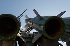 Missiler av det ryska självgående systemet medel-område för yt-luft- missil Buk-M2 Närbild arkivfoto