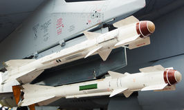 Missiles on the aircraft Stock Images