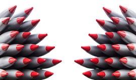 Missiles de Rocket d'isolement images libres de droits