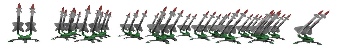 Missiles Stock Photography