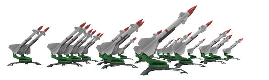 Missiles. Earth to air or earth to earth missile system Stock Images