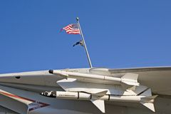 Missiles and Flags Stock Photography