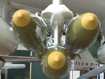 Missiles Front View. Front view of missiles on a plane Stock Photos