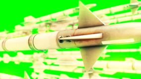 Missiles on green screen