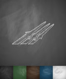 Missiles icon. Hand drawn vector illustration Royalty Free Stock Photos
