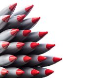Missiles isolated, weapons of mass destruction, nuclear weapons Royalty Free Stock Photography