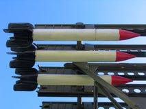 Missiles Katyusha. Old russian missiles Katyusha Stock Images