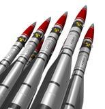 Missiles nucléaires Images libres de droits