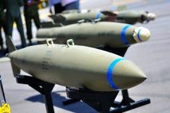 Missiles sur l'affichage à Singapour Airshow 2010 Photographie stock libre de droits