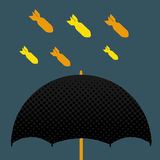 Missiles on umbrella Royalty Free Stock Photos