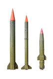 Missiles on white background Stock Images