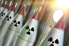 Missiles With Warheads Are Ready To Be Launched. Stock Images