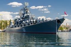 Missilkryssare - Moskva Royaltyfri Bild