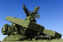 Missillauncher med radar Royaltyfri Fotografi