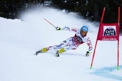 MISSILLIER Steve nel Gia di Men's della tazza di Audi Fis Alpine Skiing World Immagini Stock