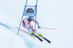 MISSILLIER Steve nel Gia di Men's della tazza di Audi Fis Alpine Skiing World Fotografie Stock