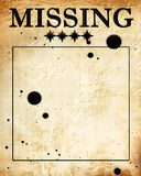 Missing. Paper Texture With Some Stains On It Royalty Free Stock Photo  Lost Person Poster
