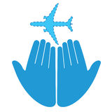 Missing Airplane. Pray for missing airplane in vector format Royalty Free Stock Photos