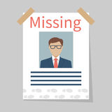 Missing announce. Vector Stock Images
