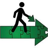 Missing arrow piece Stock Image