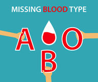 Missing Blood Type Royalty Free Stock Photo