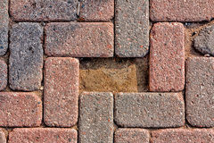 Missing Cobblestone Brick Royalty Free Stock Photo