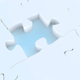Missing 3d puzzle piece Stock Photography