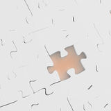 Missing 3d puzzle piece. As concept Royalty Free Illustration