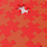 Missing 3d puzzle piece. As concept Royalty Free Stock Image