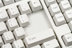 Missing enter key Royalty Free Stock Photography