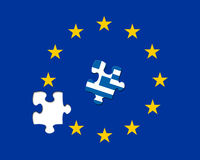 Missing EU jigsaw piece Stock Image
