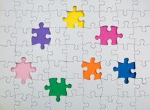 Free Missing Few Pieces In A Jigsaw Puzzle Royalty Free Stock Photography - 119884017