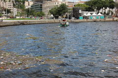 Missing five months for Olympics the Guanabara Bay waters are rotten Stock Image