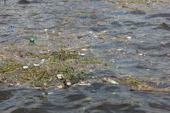 Missing five months for Olympics the Guanabara Bay waters are rotten Royalty Free Stock Photos